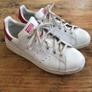Adidas Stan Smith US 5 White Pink Leather Sneakers